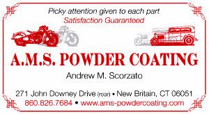 A. M. S. Powder Coating Business Card