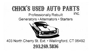 Chick's Used Auto Parts Business Card