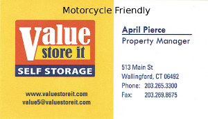Value Store It Self Storage Business Card