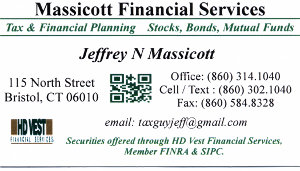 Massicott Financial Services Business Card